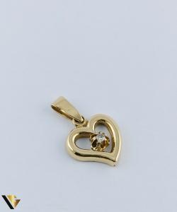 Pandantiv  Aur 18k, Diamant, Inima,  2.39 grame0