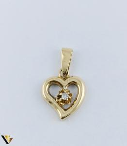 Pandantiv  Aur 18k, Diamant, Inima,  2.39 grame1