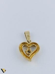 Pandantiv  Aur 18k, Diamant, Inima,  2.39 grame2