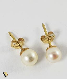 Cercei Aur 18k, Perle naturale de cultura, 1.04 grame1