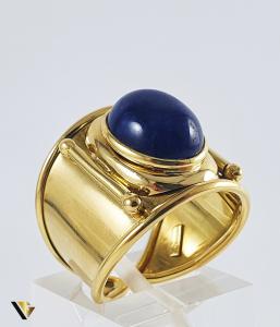 Inel Aur 18k, Lapis lazuli, 8.11 grame0