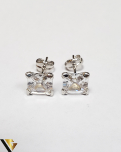 Cercei Aur 18K, Cristale din Zirconiu, 1.21 grame (IS)1