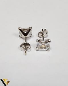 Cercei Aur 18K, Cristale din Zirconiu, 1.21 grame (IS)2
