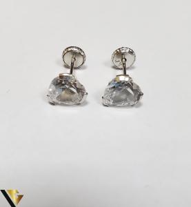 Cercei Aur 18K, Cristale din Zirconiu, 1.36 grame (IS) [1]