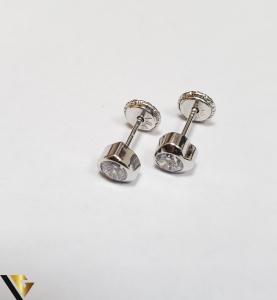 Cercei Aur 18K, Cristale din Zirconiu, 0.55 grame (IS)0