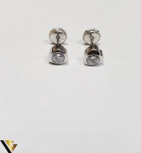 Cercei Aur 18K, Cristale din Zirconiu, 0.55 grame (IS)1