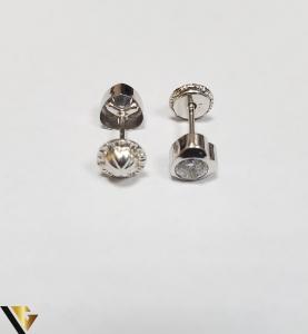 Cercei Aur 18K, Cristale din Zirconiu, 0.55 grame (IS)2