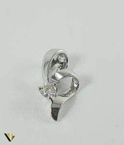 Pandant Aur 18k, Diamant de cca. 0.09 ct, 0.84 grame0