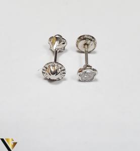 Cercei Aur 18K, Cristale din Zirconiu, 0.49 grame (IS)2