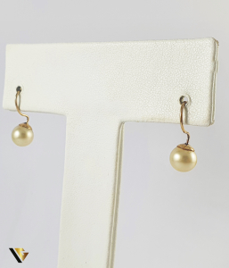 Cercei Aur 9k, Perle naturale de cultura, 1.55 grame0