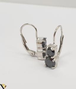 """Cercei din argint 925 3.91 grame Cristale de zirconiu Lungimea cerceilor este de 20 mm Latimea maxima a cerceilor este de 6mm Marcaj cu titlul """"925"""" Locatie HARLAU [2]"""