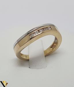 Inel aur 18k, Diamante de cca. 0.10 ct, 3.44 grame (IS)0