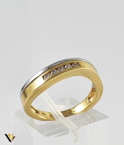 Inel Aur 18k, Diamante de cca. 0.10 ct in total, 3.68 grame (P)0