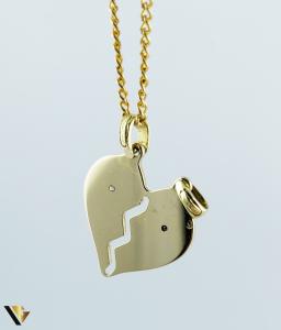 Pandantiv aur 18k, Diamante, Inima, 2.68 grame (R) [1]