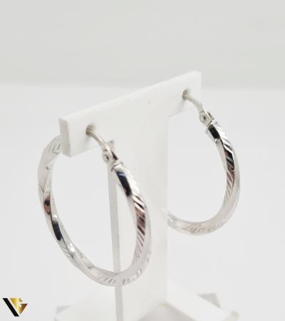 Cercei aur alb 18k, 2.26 grame (R) [0]
