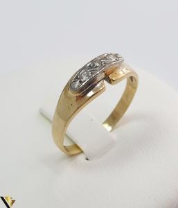 Inel cu Aur 18k, Diamante de cca 0.075 ct in total, 3.30grame(H)0