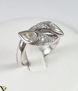 Inel Aur Alb 18k, Diamante cca 1.12ct, 5.45 grame (R)0