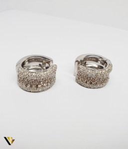 Cercei Aur 18k, Diamante de cca. 3 ct in total, 17.52 grame (R)6