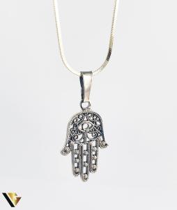Set Cercei si Pandant din Argint 925, Simbolul Hamsa, 3.68 grame (R) [2]