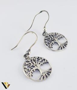 Cercei argint 925, Copacul vietii, 4.12 grame (R)0