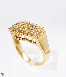 Inel cu diamante de cca. 0.66 ct, din aur 18k, 4.50 grame (BC M)2
