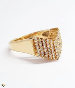 Inel cu diamante de cca. 0.66 ct, din aur 18k, 4.50 grame (BC M)1