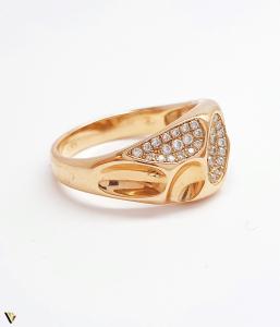 Inel cu diamante de cca. 0.252 ct, din aur rose 18k, 4.92 grame (BC M)2