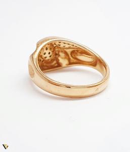 Inel cu diamante de cca. 0.252 ct, din aur rose 18k, 4.92 grame (BC M)3