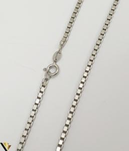 """Lant din argint 925 11.55 grame Lungime de 40 cm Latime de 2.3mm Marcaj cu titlul """"925"""" Locatie HARLAU [1]"""