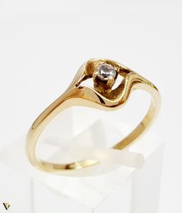 Inel din aur 14k, 1.8 grame (BC M) [0]