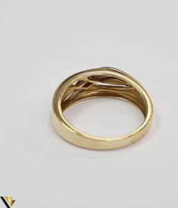 """Inel din aur 18k, 750 4.81grame Diametrul inelului este de 17.5mm (masura standard RO:55si UE:15) Latimea in partea superioara este de 7mm Marcaj cu titlul """"750"""" Locatie Harlau [2]"""