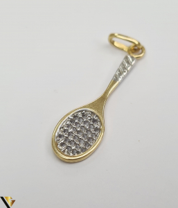 Pandantiv din aur 18k, 750 1.20grame Lungimea pandantivului cu anou este de 30 mm Latimea pandantivului este de 7mm Locatie HARLAU [2]
