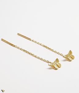 Cercei cu lant Aur 14K, Fluture, 1.60 grame (BC M) [1]