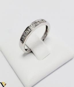Inel Aur Alb 18k, Diamante bagheta cca 0.56ct, 2.55grame (PD) [1]
