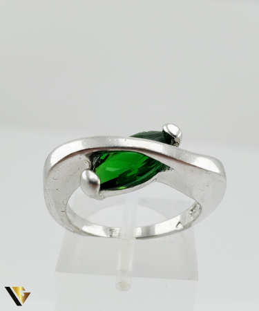 Inel Argint 925, 6.19 grame (R) verde [1]