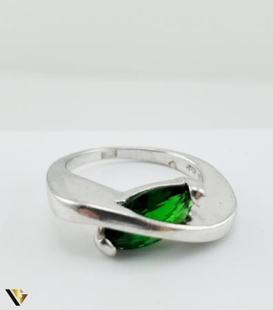 Inel Argint 925, 6.19 grame (R) verde [3]
