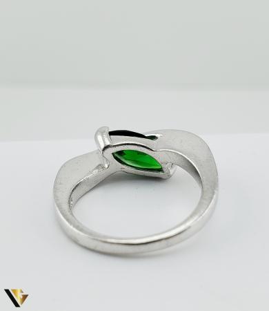 Inel Argint 925, 6.19 grame (R) verde [4]