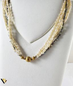 Colier Perle, Incuietoare Aur 18k (P)0