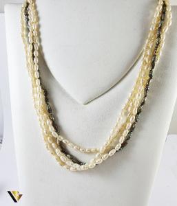 Colier Perle, Incuietoare Aur 18k (P)1