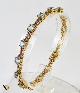 Bratara Aur 9k, Topaze si diamante de cca. 0.25 ct in total, [0]