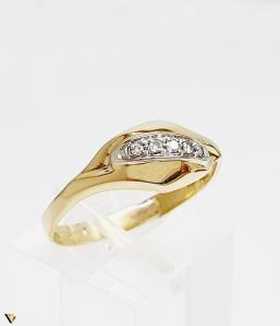 Inel cu diamante de cca. 0.05 ct, 18k, 3.31 grame (BC M)0