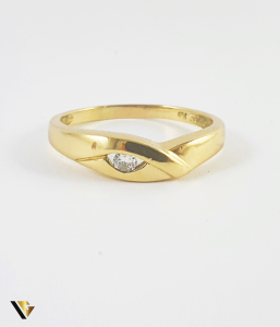 Inel Aur 18k, Diamant de cca. 0.08 ct, 3.42 grame (P)1
