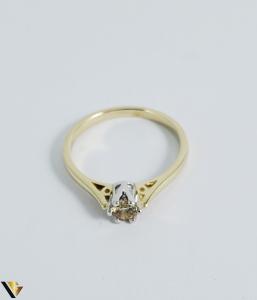 Inel logodna aur 9k, Diamant 0.33 ct, 2.12 gr (R) [2]