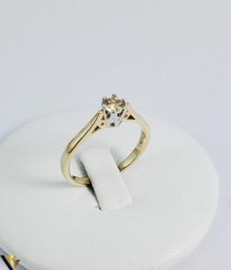 Inel logodna aur 9k, Diamant 0.33 ct, 2.12 gr (R) [0]