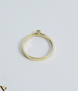 Inel logodna aur 14k, Diamant cca 0,10 ct, 2,02 gr (sed) [2]