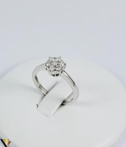 Inel aur 9k, Diamante cca 0,21 ct in total, 2,16 gr (sed)0
