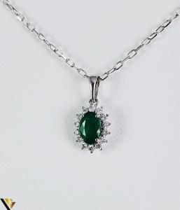 Pandantiv aur 9k, Diamante cca 0,14 ct in total, 0,43 gr (sed) [0]