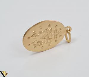 Pandantiv din aur 9k, 375 3.23 grame Lungimea pandantivului cu anou este de 29 mm Latimea pandantivului este de 15mm Locatie HARLAU [3]