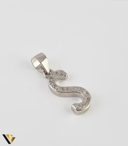 Pandantiv Argint 925, Litera S, 0.90 grame (R)0