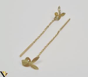 Cercei din aur  14k, 585 1.33grame Lungimea cerceilor 58mm Latimea cerceilor 6mm Marcaj cu titlul 585 Locatia HARLAU [1]